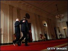 Obama and Biden 21 March 2010 in Washington, DC