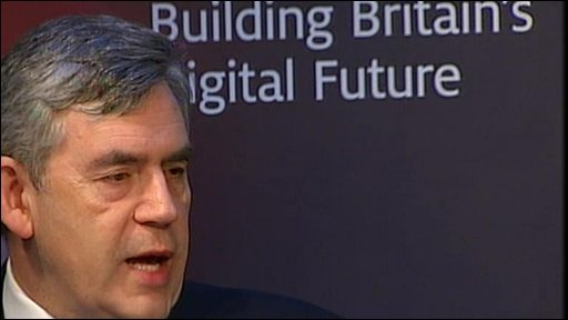 Gordon Brown announcing £30 Institute of Web Science, to be based in Britain and jointly headed by Sir Tim Berners-Lee, inventor of the world wide web.