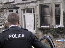 Policeman at Ballymena petrol bomb attack