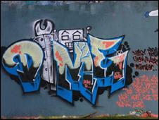 Robo Rock, by graffiti artist Andy Birch, photo be Warpig