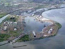Grangemouth port aerial