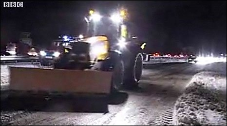 Snow ploughs on Haldon Hill