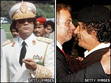 Colonel Gaddafi and Tony Blair