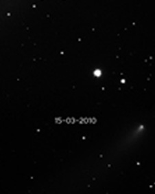 Image of Comet C2007 C3 taken by Nick Howes. Image from Cardiff University