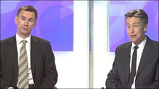 Jeremy Hunt and Ben Bradshaw