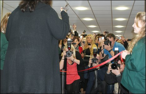 Ruth performs the official re-opening of Wrexham Library