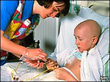 A young leukaemia patient