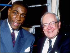 Harry Carpenter with Frank Bruno