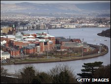 City of Derry on the river Foyle
