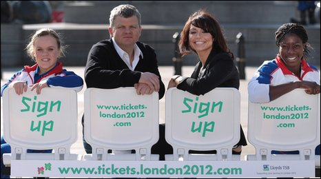 Eleanor Simmonds, Adrian Chiles, Christine Bleakley and Christine Ohuruogu