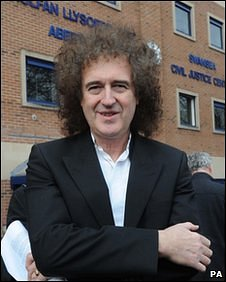 Brian May outside court