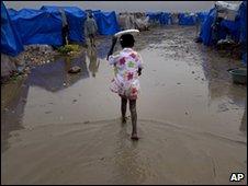 Camp for homeless earthquake survivors in Port-au-Prince, Haiti, 19 March 2010