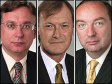 From left: Labour's Andrew Dismore, Conservative David Amess, Liberal Democrat Norman Baker