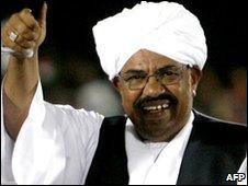 Sudan President Omar al-Bashir, Feb 2010