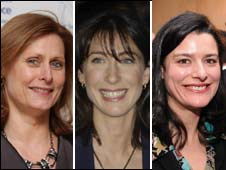 Sarah Brown, Samantha Cameron and Miriam Gonzalez Durantez