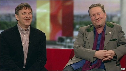 Chris Difford and Glenn Tilbrook from the Squeeze
