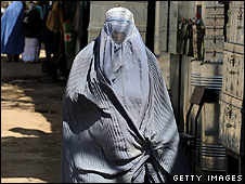 Woman in a burka in Kabul