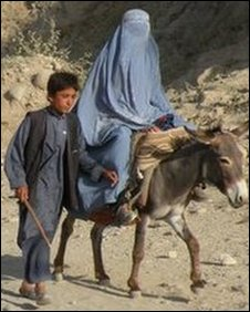 Mother and son in Badakhshan province