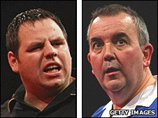 Adrian Lewis and Phil Taylor