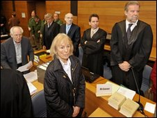 Some of the defendants and their lawyers in court in Traunstein - 8 February 2010