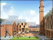 Projected image for Tower Works regeneration
