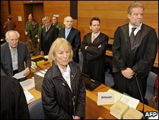 Defendants and lawyers in court in Traunstein, Germany, 8 February 2010