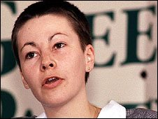 Caroline Lucas campaigns for the Greens in 1990