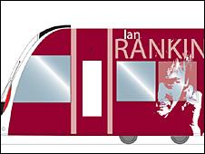 Tram with Ian Rankin written on the side
