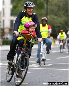 London Sky Ride taking place