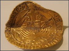 "Henry VII ""angel"" coin"