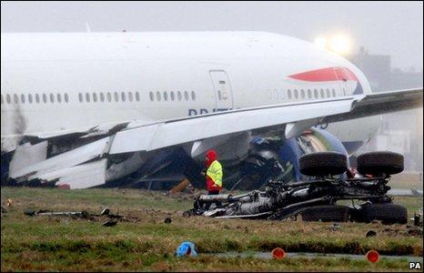 Crashed Boeing 777