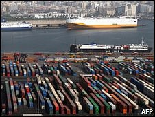 DP World owned container port in Dubai