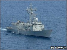 The ESPS Navarra, which found the dead suspected pirate (image: EU Navfor)
