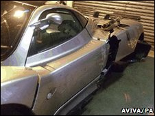 Damaged Pagani Zonda S