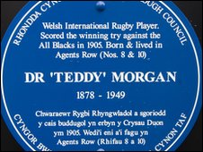 "Dr Edward ""Teddy"" Morgan plaque"