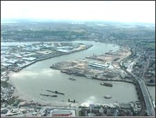 A view from the air of Medway