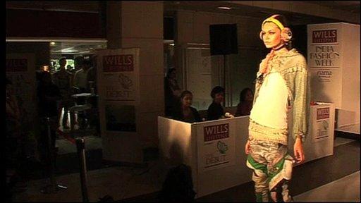 Model at India Fashion Week