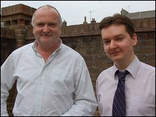 Martin Stewart (left) and Stuart Tyler from Dorset History Centre