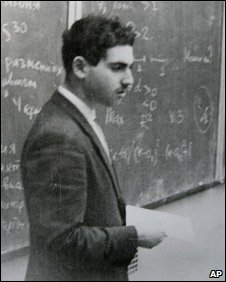 Grigory Perelman at a maths lecture in Leningrad (now St Petersburg) in 1980