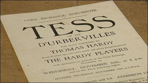 An original advertsing poster for Tess of the D'Urberviles