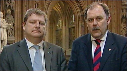 Angus Robertson and Elfyn Llwyd