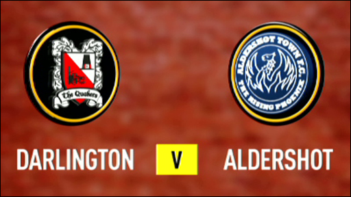 Darlington 1-2 Aldershot
