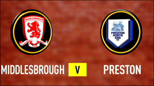 Middlesbrough v Preston
