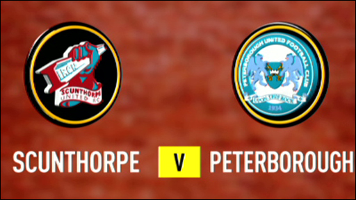 Scunthorpe v Peterborough