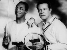 Bill Cosby (L) and Robert Culp in I Spy - undated file photo