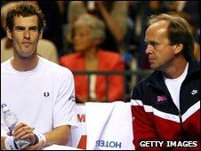 Andy Murray (l) and John Lloyd