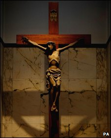 Crucifix inside Catholic Church in Dublin