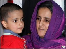 Sahil Saeed and his mother Akila Naqq (file pic)