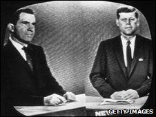 Richard Nixon and John F Kennedy