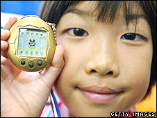 Girl with a Tamagotchi